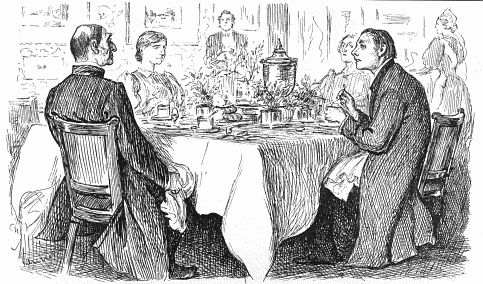 """True Humility"" by George du Maurier, originally published in Punch, 9 November 1895. (Via Wikipedia, click image for details)"